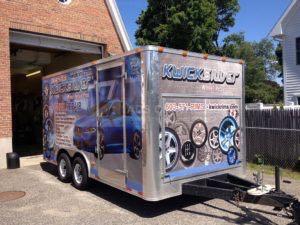 Cargo Trailer Wrap Graphics Enclosed Wheel Repair