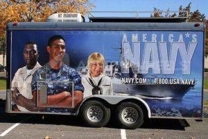 Cargo Trailer Wrap Graphics Navy