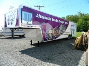 Cargo Trailer Wrap Graphics Scrubs
