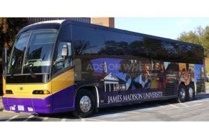 Coach Bus Wrap Graphics JMU