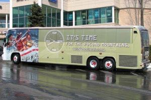 Coach Bus Wrap Graphics PA Poconos