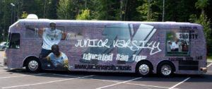 Coach Bus Wrap Graphics Record Label JV
