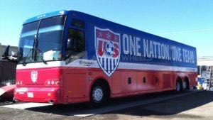 Coach Bus Wrap Sports Team Us Soccer