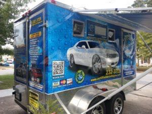 Concession Cargo Trailer Wrap Graphics Wheel