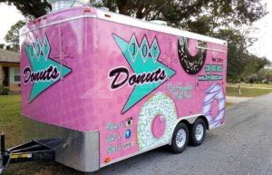 Concession Trailer Wrap Graphics Donuts