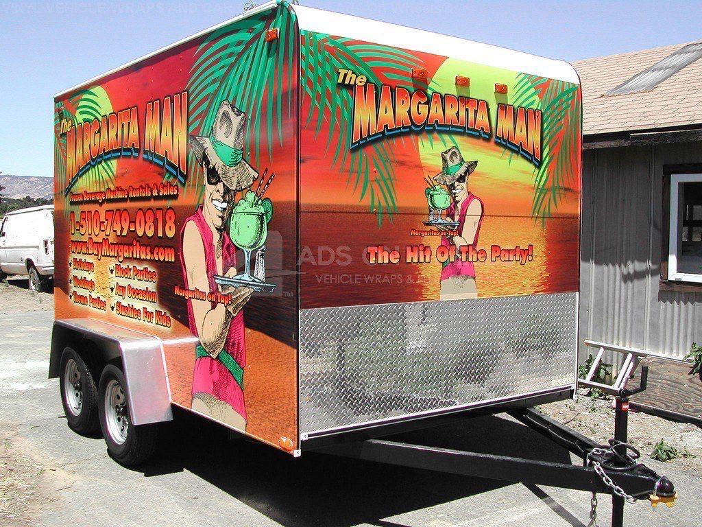 Concession Trailer Wrap Graphics Food Margarita