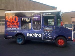 Food Truck Wrap Graphics METRO PCS