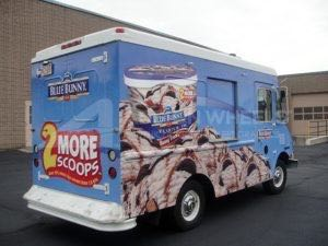 Food Truck Wrap Graphics Blue Bunny