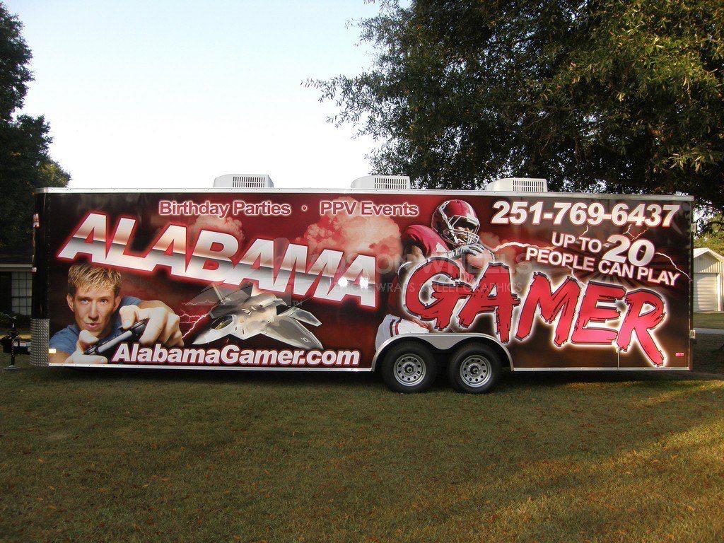 Gaming Trailer Wrap Graphics Alabama