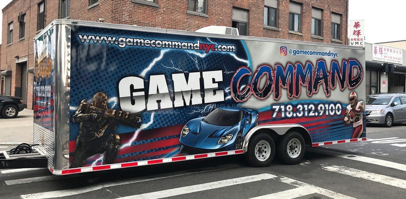 Gaming Trailer Wrap Graphics Command