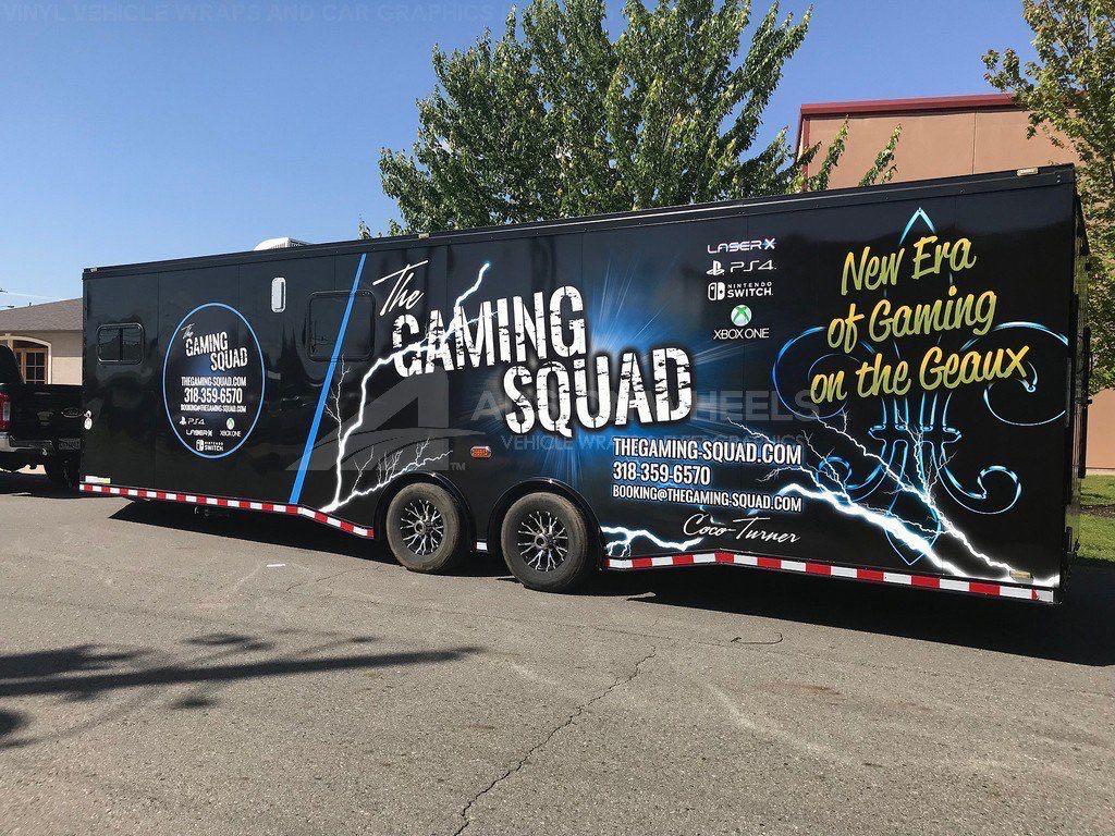 Gaming Trailer Wrap Game Squad