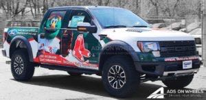 Pickup Truck Wrap Graphics Red Sox