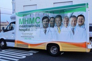 Shuttle Bus Graphics Wrap MHMC