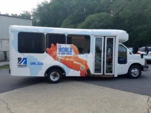 Shuttle Bus Graphics Wrap UMASS University