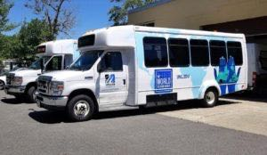 Shuttle Bus Graphics Wraps UMASS University