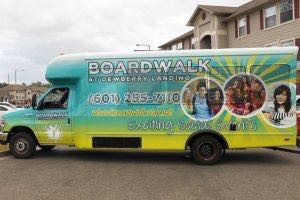 Shuttle Bus Wrap Boardwalk
