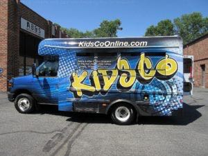 Shuttle Bus Wrap Graphics KDCO 1