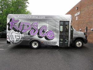 Shuttle Bus Wrap Graphics KDCO 3