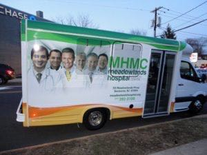 Shuttle Bus Wrap Graphics Hospital MHM