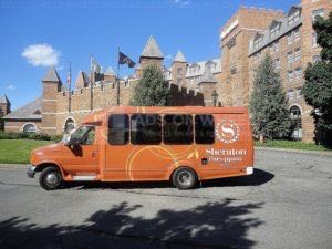 Shuttle Bus Wrap Graphics Hotel Sheraton
