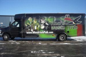 Shuttle Bus Wrap Graphics Mos