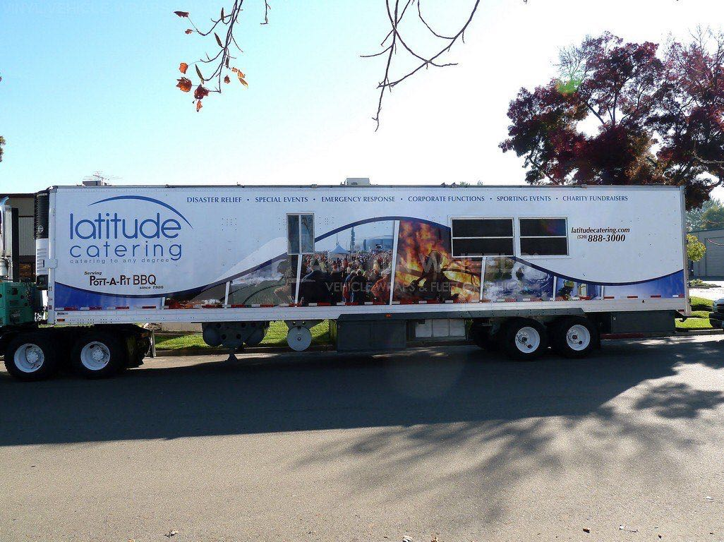 Tractor Trailer Wraps Semi Graphics Lat Catering