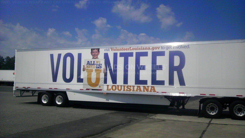 Tractor Trailer Wraps Semi Graphics Louisiana Government