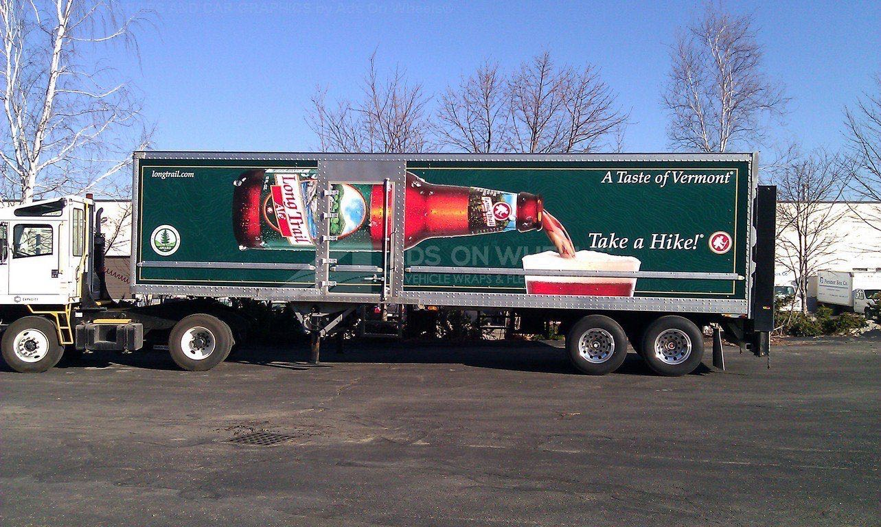 Tractor Trailer Wraps Semi Graphics Long Trailer Brewing Beverage