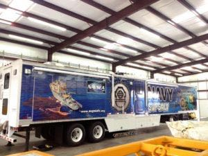 Tractor Trailer Wraps Semi Graphics Navy NAVSEA
