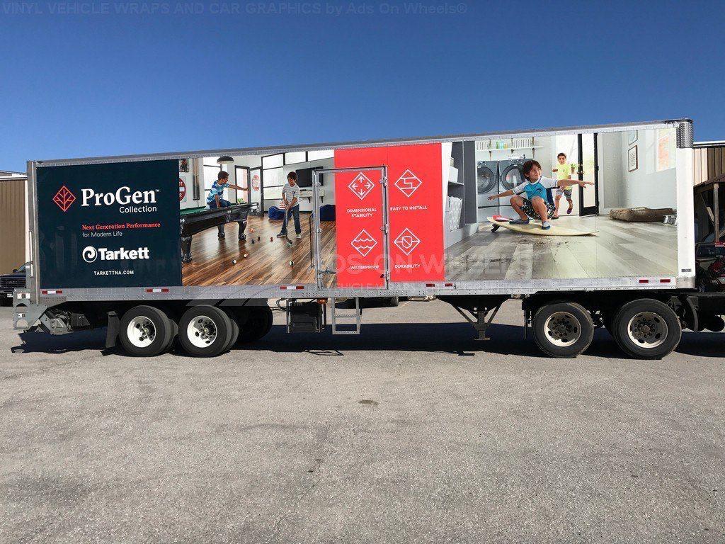 Tractor Trailer Wraps Semi Graphics Progen Tarkett