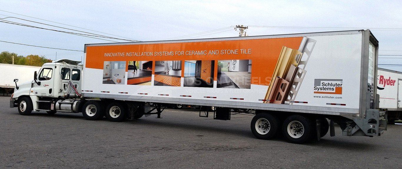 Tractor Trailer Wraps Semi Graphics Schluter Systems