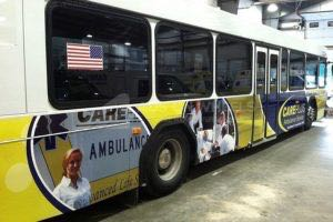 Transit Bus Wrap Graphics Careplus