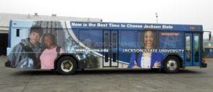 Transit Bus Wrap Graphics JSU University