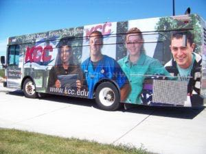 Transit Shuttle Bus Wrap Graphics College Kcc