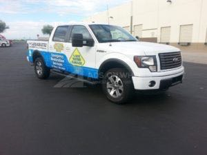 Truck Wrap Pickup Truck Graphics 800 Water Restoration Franchise TH