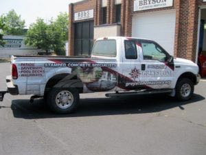 Truck Wrap Pickup Truck Graphics Concrete Contstruction SMC