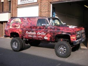Truck Wrap Pickup Truck Graphics Grille Food FOS
