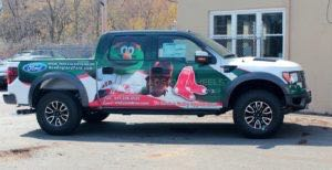 Truck Wrap Pickup Truck Graphics Sport Mlb Red Sox Ford