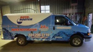 Utility Truck Graphics Wrap Service Body Commercial Water Restoration RR