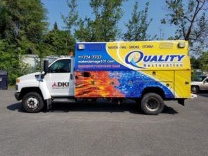 Utility Truck Graphics Wrap Service Body Hvac QRE