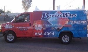 Utility Truck Graphics Wrap Service Body Hvac Breeze