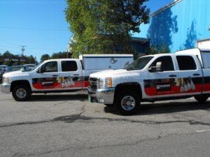 Utility Truck Graphics Wrap Service Body Hvac Burndy