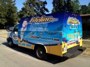 Utility Truck Graphics Wrap Service Body Plumbing LLP