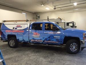 Utility Truck Graphics Wrap Service Body Restoration Water RR