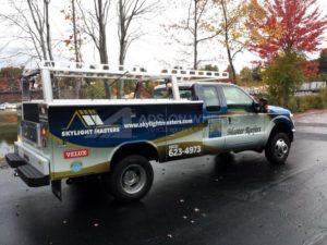 Utility Truck Graphics Wrap Service Body Roofing Msr