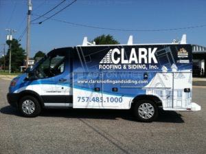 Utility Truck Graphics Wrap Service Body Roofing Siding CLK
