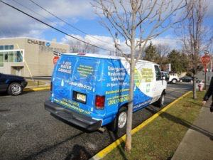 Van Wrap Graphics 800 Water Damage