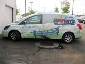 Van Wrap Graphics BWN