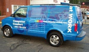 Van Wrap Graphics Computer