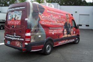 Van Wrap Graphics GNV